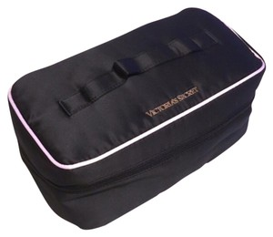 Victoria's Secret Vs Cosmetic Travel Case Black Pink Travel Bag