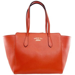 Gucci 354408 Leather Tote in Red