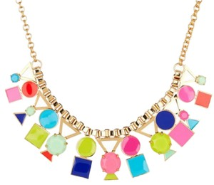 Kate Spade bib style ,Gold Plated Ipanema Tile Necklace