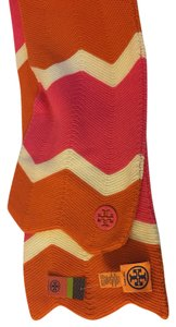 Tory Burch Tory Burch Scarf Zig Zag Pink Orange Wool Heavy NWT