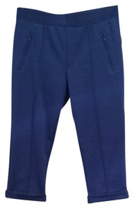 David Lerner Saks5thave Dl Blue Leggings Fitted Crop Cropped Capris Bright Blue