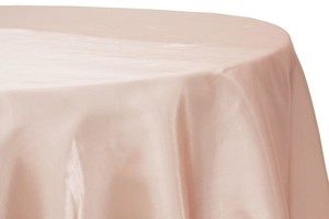 Blush Poly Satin Table Linens And Cocktail Table Sashes