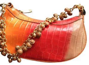 Berge Orange. Red. Briwn Clutch