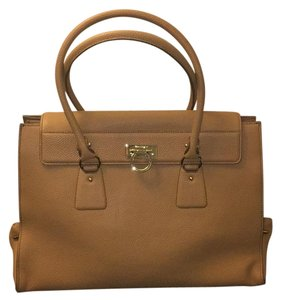 Salvatore Ferragamo Satchel in Almond