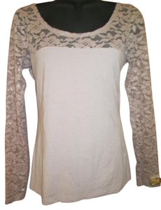H&M Lace Stretchy Spring Top Mauve
