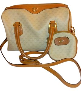 Gucci Speedy Doctors Satchel in Cream and Tan