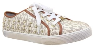 Michael Kors Medici Sneakers Leather Ivory Athletic