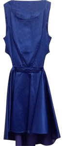 Marciano Guess Losangeles Blue Flare Feminine Openback Buttons Formal Datenight Dress