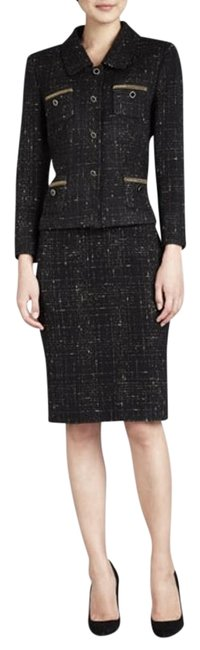 Item - Black with Gold Designs Luxe- Rn# 106409 Skirt Suit Size Petite 2 (XS)