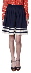 Anthropologie A-line Karen Walker Striped Nautical Skirt Navy