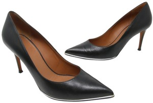 Givenchy Fashion Lambskin Heels Silver Studded Black Pumps