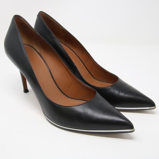 Givenchy Fashion Lambskin Heels Silver Studded Black Pumps Image 1
