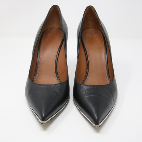 Givenchy Fashion Lambskin Heels Silver Studded Black Pumps Image 2