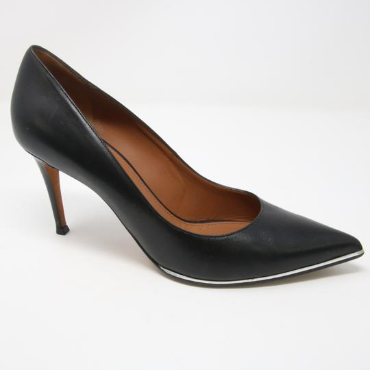 Givenchy Fashion Lambskin Heels Silver Studded Black Pumps Image 4