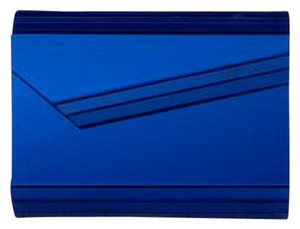 Jimmy Choo Mirrored Acrylic Gold Perspex Electric Blue Clutch