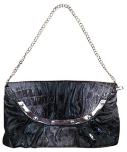Other Shiny Hardware Magnetic Closure Closure Chain Black and Silver Clutch