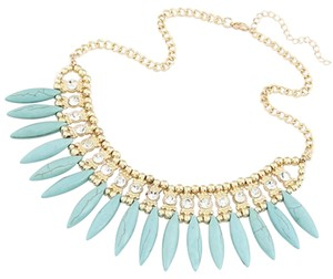 NEW Turquiose Gold Collar Statement Necklace