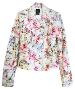 Zara Tweed white, floral Jacket