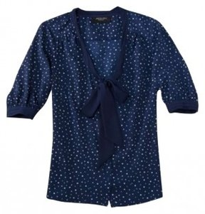 Jason Wu Pussy Bow For Target Top Navy
