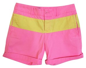 J.Crew Chino Color-blocking Bermuda Shorts pink, yellow
