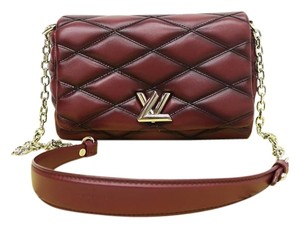 Louis Vuitton Lv Lambskin Malletage Twist Shoulder Bag