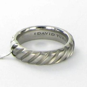 David Yurman Ring Mens Gray 6mm Modern Cable Band Titanium