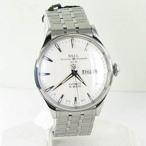 Ball Ball Nm2080d-sj-sl Trainmaster Eternity Silver Dial Day Date Auto Watch