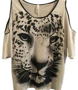 Estam Top Leopard, khaki, black, & gray