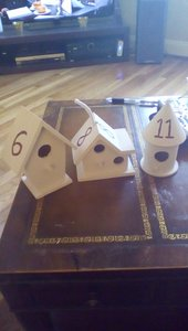 Birdhouse Table Numbers
