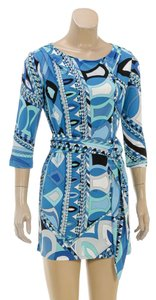 Emilio Pucci short dress Blue/Multicolor on Tradesy