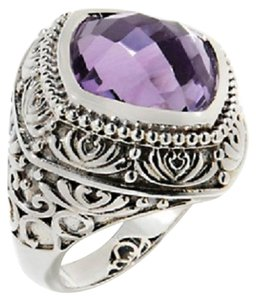 Hilary Joy Hilary Joy 6ct Checkerboard-Cut Lilac Amethyst Sterling Silver Ring - Size 6