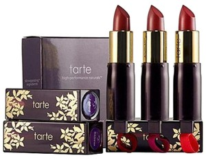 Tarte TARTE CREAMY LIPSTICK TRIO IN MAUVE, BERRY AND POPPY SHADES