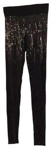 bebe Sequins Pants Dressy Stylish Black Sequins. Leggings