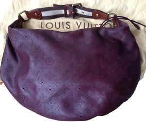 Louis Vuitton France Leather Mahina Hobo Bag