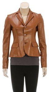 Ralph Lauren Tan Leather Jacket