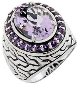 Hilary Joy Hilary Joy 4.82ct Lilac Amethyst Sterling Silver Oval Ring - Size 7