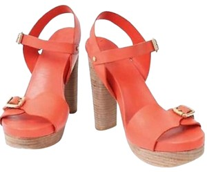 Tory Burch Red Orange Wedges