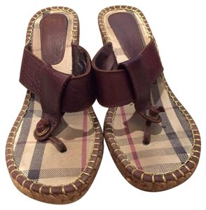 Burberry Chocolait Brown Wedges