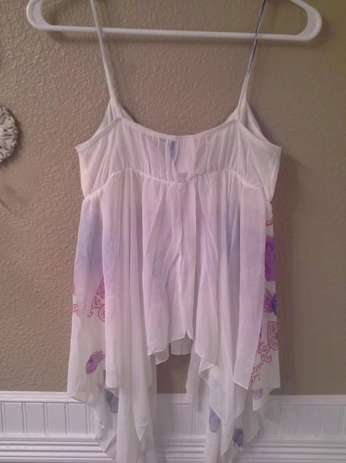 Other Top White with purple, blue, pink Image 1