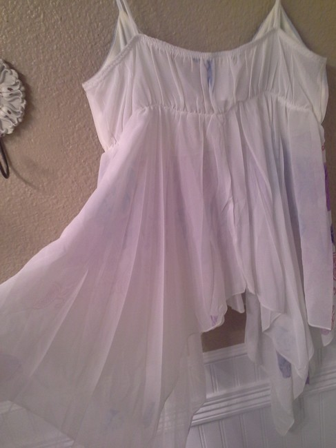 Other Top White with purple, blue, pink Image 3