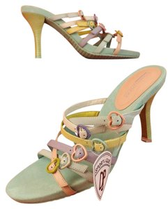 Donald J. Pliner Light Blue,Pink,Yellow,White Mules