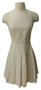 A|X Armani Exchange short dress White Sundress Pleated Crisscross Strap on Tradesy