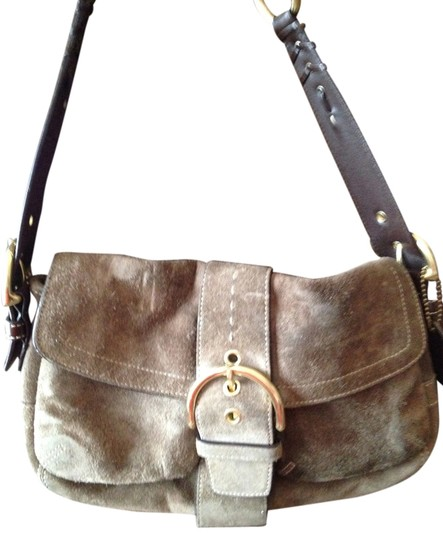 Coach Satchel in Olive brown