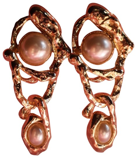 Other Goldtone faux pearls clip-on earrings