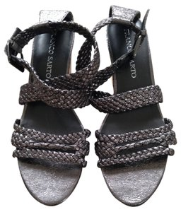 Franco Sarto Sandals Gunmetal Wedges
