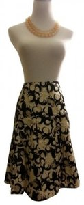 The Limited Skirt Black, Beige, White Circle Pattern