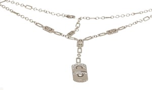 BVLGARI Bvlgari 18k White Gold Diamond Parentesi Necklace