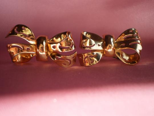 Other Vintage goldtone bow screw-on earrings