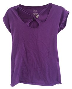 Armani Exchange Ax Charm Stretch T Shirt Purple