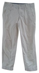 Banana Republic Boyfriend Chino Distressed Capri/Cropped Pants White